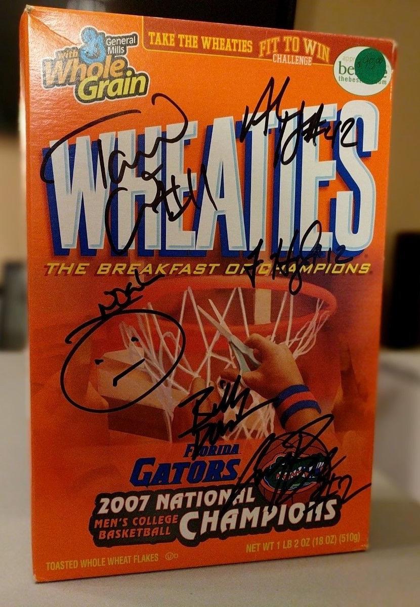 FREE Raffle - 2007 Wheaties Box signed by basketball team